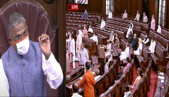 Agriculture bill passed rajyasabha amidst uproar