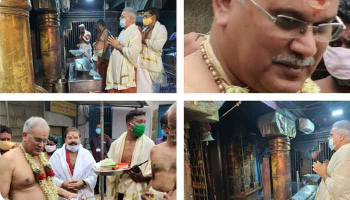 Chhattisgarh Chief Minister Bhupesh Baghel worshiped at Devi temple in Kanyakumari