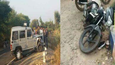 Photo of बोलेरो-बाईक की भिड़त में 1 युवक की हुई मौत, 1 घायल