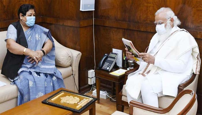 Chhattisgarh Governor Anusuiya Uike asked the Prime Minister for a fight against Corona