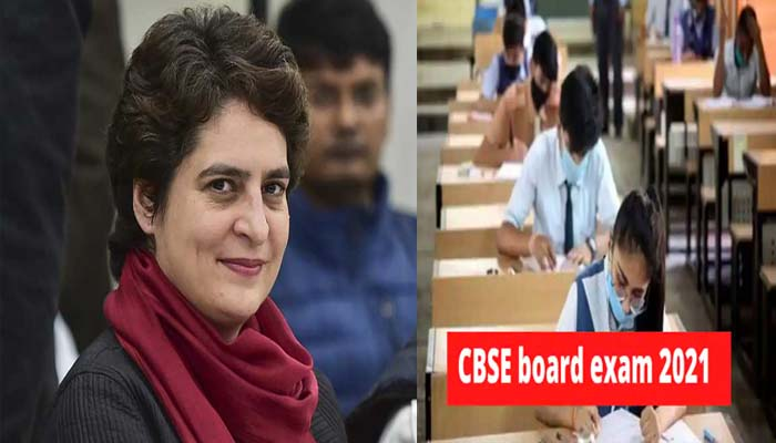 Priyanka Gandhi has written a letter to the Education Minister regarding the CBSE Board Examination
